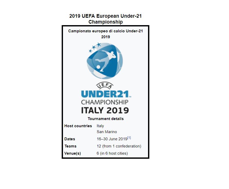2019 UEFA European Under-21 Championship ITALY | OSM Forum